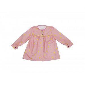 blusón infantil rosa peinetas amarillas