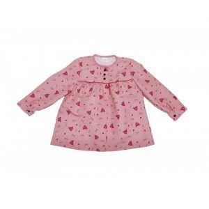 blusón infantil rosa peinetas fucsia