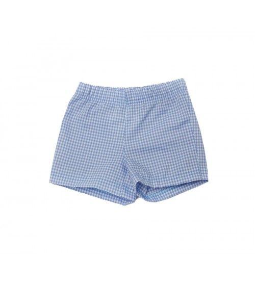 Pantalón corto vichy azul