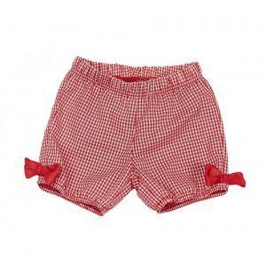 Pantalón globo vichy rojo