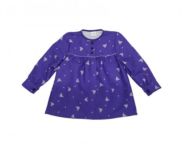 blusón morado peinetas lila