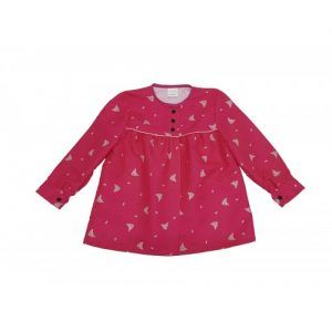 blusón infantil fucsia peinetas rosa