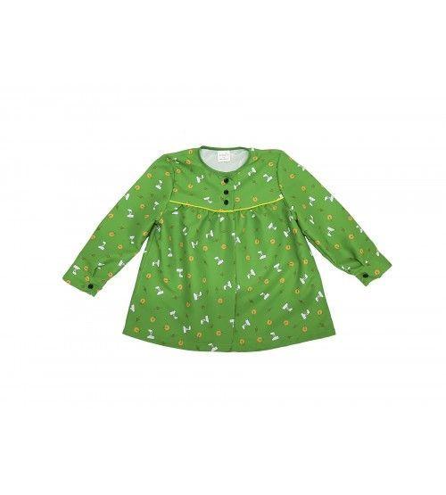 Blusón Magdalena verde adulto