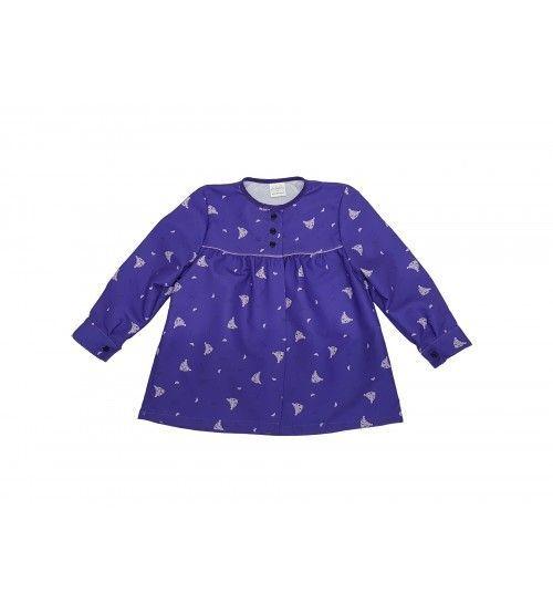bluson infantil morado peinetas lila