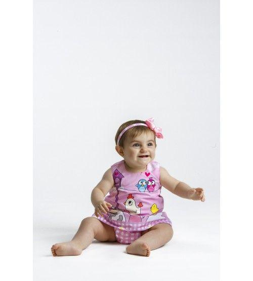 Conjunto bebé Granja rosa