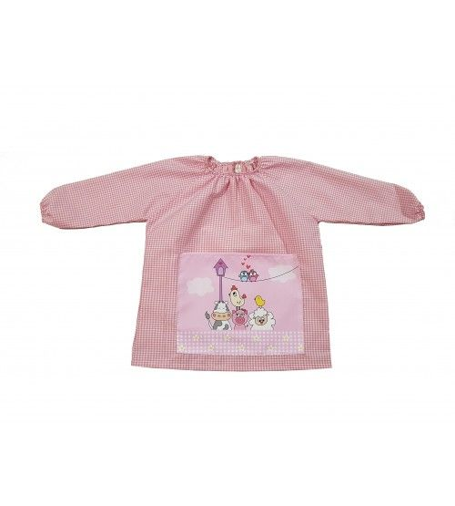 Babi cuello elástico Granja rosa basic